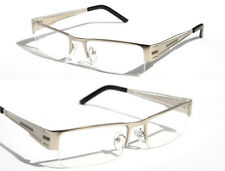 Half Rim Premium Silver Metal Rectangle Reader Reading Glasses +3.00   1230