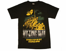 WU TANG CLAN Either Step on or Get Stepped Upon T-Shirt Color: Black Sz: Adult S
