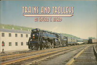 TRAINS and TROLLEYS: 50 years of photographs / steam engines & electric cars NEW