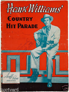 HANK WILLIAMS Signed Page - 1950s Country & Western C&W Musician Star - preprint