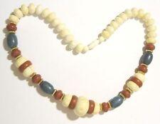 collier vintage perle déco couleur petites perles or galette ethnique * 3901