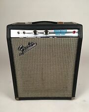 Vintage 1970 Fender Black & Silverface Musicmaster Bass/Guitar Tube Amp
