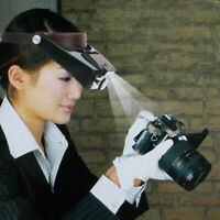 10X Magnifying Glass Head Band Magnifier with LED Light Loupe Work Tool Rep Q1W6