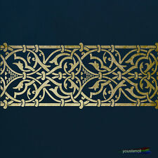 Moroccan Border Stencil  :  For Walls, Furniture and Art:   ST73