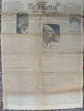 """LE MATIN (13/5/1919) Secret des vrais """"Rodin"""" - Mme Blanche Dufrène - L'Espagne"""