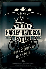 Nostalgic type Harley Davidson Things Are Different on a Harley Bouclier 20x30 #