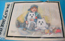 3D Paper Tole Art Craft kit Westie Dogs Picture by Suzanne Bright West Highland