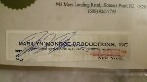 Marilyn Monroe Autograph Signed Check Authentic Original 1961 Offers Considered