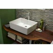 "24"" Heavy Duty Ceramic Single Bowl Vessel Bathroom Sink - 24"" x 16"""