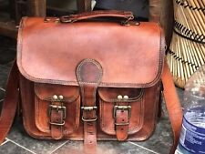 Bag Leather Vintage Messenger Shoulder Men Satchel Mini Laptop School Briefcase