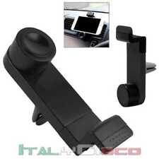 Supporto Porta Bocchette Aria per Cellulare Smartphone da Auto GPS Nero Univers.