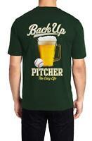 "Back Up Pitcher Men's t-shirt ""The Easy Life"" - Beer- Bar Baseball -100% Cotton"