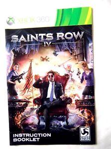 54631 Instruction Booklet - Saints Row IV - Microsoft Xbox 360 (2013)