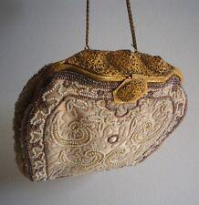 Wunderschöne alte Theatertasche - Filigran - Glasperlen - Vintage Victorian  Bag
