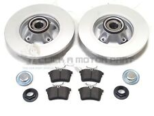 PEUGEOT PARTNER VAN 08-17 REAR BRAKE DISCS PADS FITTED WHEEL BEARINGS ABS RINGS