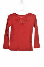 Toughskins Girls Tops T - Shirts S Red Cotton
