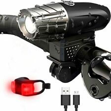 2019 USB Rechargeable Bright LED Bicycle Bike Headlight and Rear Tail Light Set