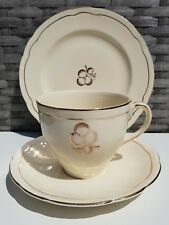 Vintage Alfred Meakin Trio Cream and Gold Cup, Saucer and Plate English Tea Set