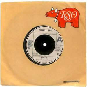 "Yvonne Elliman Love Me UK 7"" Vinyl Record Single 1976 2090205 RSO 45 VG+"