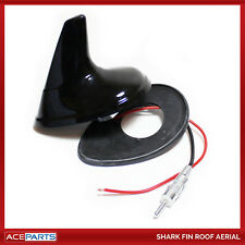 Universal Car Roof Radio AM/FM Signal Amplified Shark Fin Aerial Black Antenna