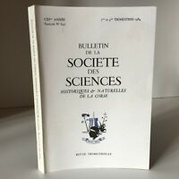 Boletín de La Société Las Ciencias Históricos Y Naturales Corse N º 647 1984