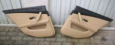 BMW E60 E61 LCI Türverkleidung Links und Rechts Beige 3 Leder Sonnenschutzrollo