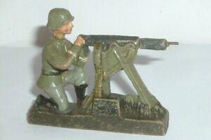 Old Solid Figure 2.WK Mass Military Wehrmacht Machine Gun MG Shooter