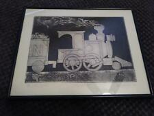 "ED GIFFORD ART ""THE LITTLE ENGINE"" COLLAGRAPH A/P 1980 FREE SHIPPING"