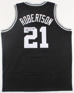 "Alvin Robertson Signed San Antonio Spurs Jersey Inscribed""'84 Olympics""(JSA COA)"