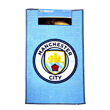 MANCHESTER CITY FC CREST RUG BEDROOM DOOR CARPET MAT FLOOR NEW GIFT XMAS 80 X 50