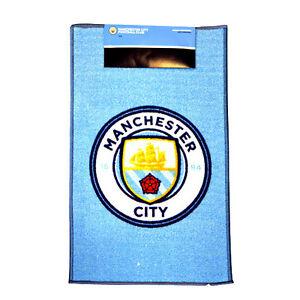 MANCHESTER CITY FC CREST RUG BEDROOM DOOR CARPET MAT FLOOR NEW GIFT XMAS 80 X 50