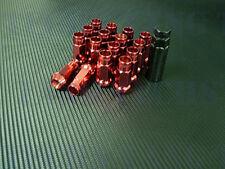 DARK STAR FORGED STEEL RED LUG NUTS 16 PCS 12X1.5MM HONDA ACURA CIVIC INTEGRA