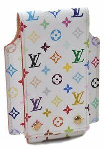 Authentic Louis Vuitton Multicolor Etui Ipod Case White M60014 B5168