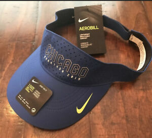 Nike 2019 Chicago Marathon Running Visor Aerobill Blue Adjustable One Size
