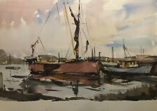 Large watercolour in the style of Edward Wesson/ Edward Seago