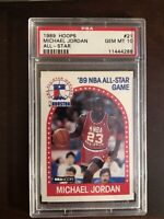 1989 Hoops All Star #21 Michael Jordan MJ Chicago Bulls PSA 10 GEM MINT