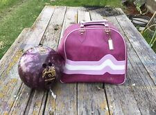 Vintage Don Carter Purple Bag and 1 Galaxie 300 Bowling Ball
