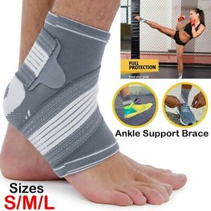 Ankle Support Brace Compression Achilles Tendon Strap Foot Sprains Injury