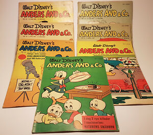 Walt disneys anders & co vintage danish comics 60s Lot