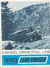 1965 1966 Toyota Land Cruiser FJ40 FJ45 Hardtop Wagon Pickup Brochure mx9061