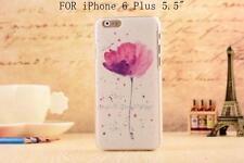 """Cover Case Custodia Guscio Rigido iPhone 6 6S Plus 5.5"""" Fiore Colorato Viola"""
