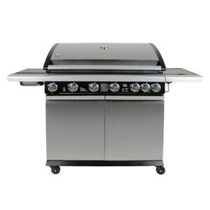 The Alabama Elite 6 Burner Gas BBQ In Stainless Steel  - Includes BBQ Cover