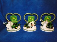 New John Deere Tractor Wedding Couple Cake Topper with Bride & Groom, 3 choices