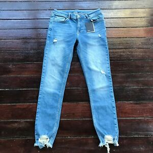 ASOS Mens Blue Distressed Denim Jeans Size 32 W32 L30