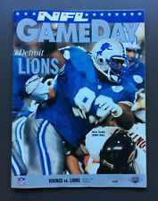 GAMEDAY NFL Game Program Magazine Guide Vikings vs Lions 1992 Jerry Ball Cover