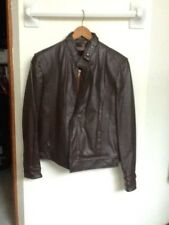 Men's Oleg Cassini size 38 flawless brown leather jacket