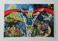 Original 1970's Marvel Comics Thor Tales of Asgard 1 cover art poster:Kirby/Hela