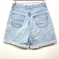 Vtg 90s GUESS high waisted Denim Mom jean Shorts Women's Size 27