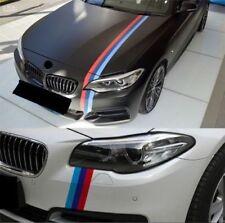 "59"" M-colored Car Stripe Sticker Vinyl Decal Fit BMW M3 M4 M5 M6 3 5 6 7 Series"