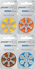 Varta Power One Hörgerätebatterien Größe 312 braun, 10 gelb, 13 orange, 675 blau